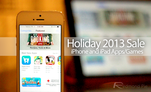 Holiday 2013 iPhone iPad Apps sale