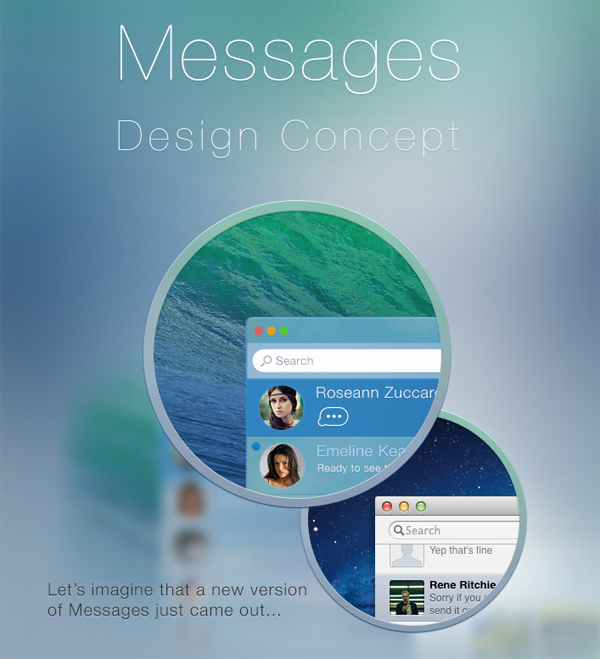 Messages app concept