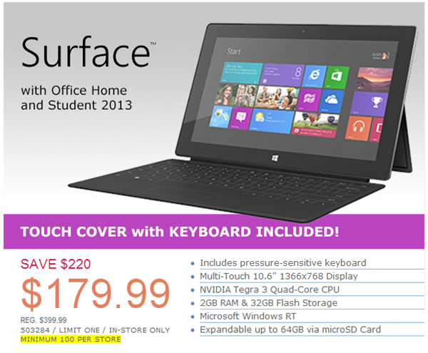 Surface RT deal