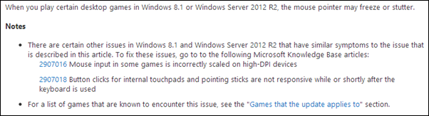 Windows 8.1 mouse patch fix