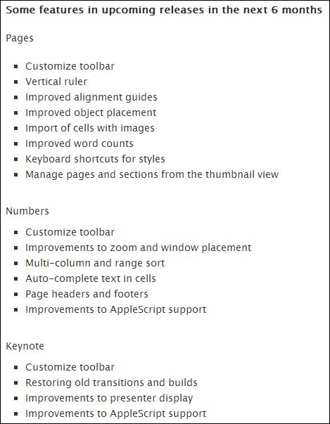 iWork update Mac