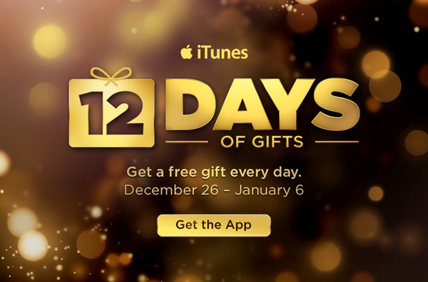 12 days christmas gifts itunes account