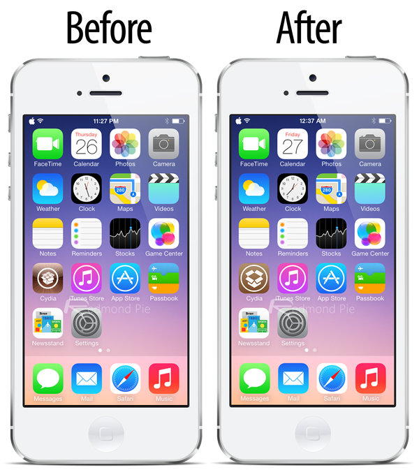 Before After Cydia icon iOS 7