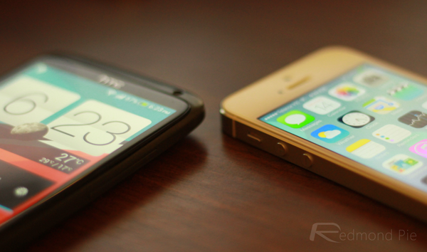 HTC One X iPhone 5s