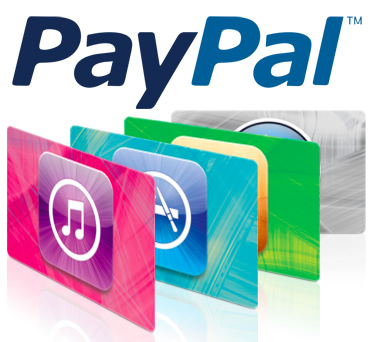 PayPal iTunes gift cards