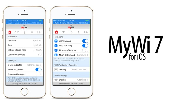 MyWi 7 0 For iOS 7 Released: Features All New Design, 5GHz