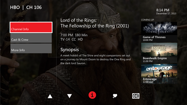 Xbox One Verizon App ChannelDetailScreen