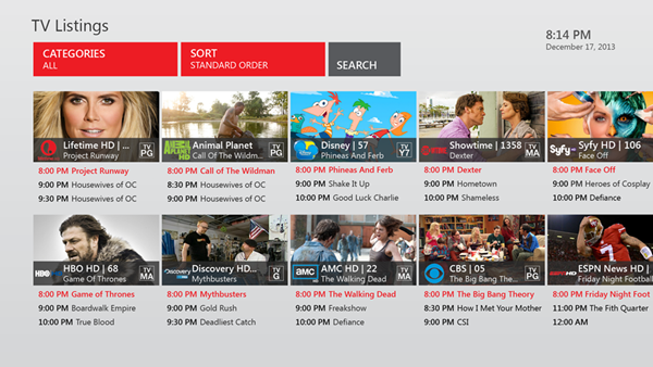 Xbox One Verizon App TV Listings