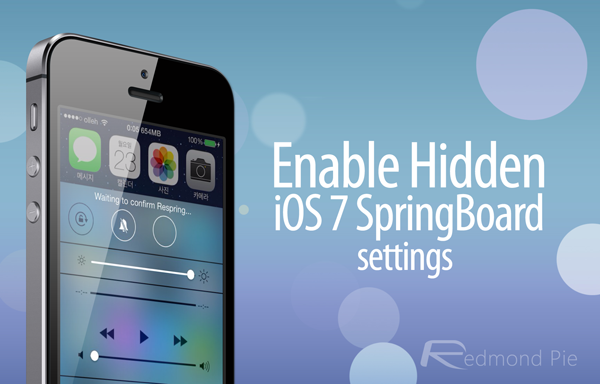 iOS 7 springboard settings