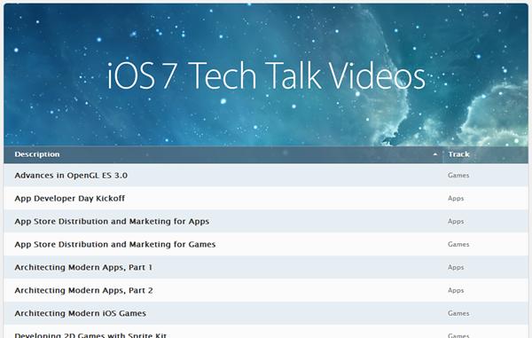 iOS 7 tech talks video
