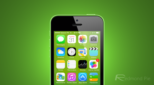 iOS 7 wallpaper blur