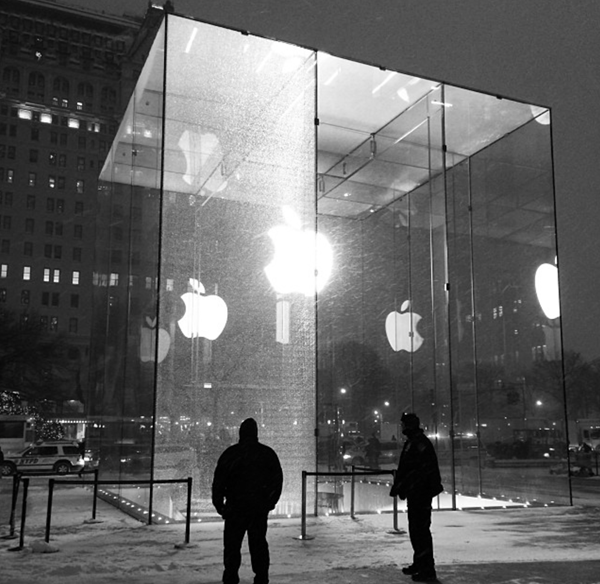 Apple fifth avenue store glass