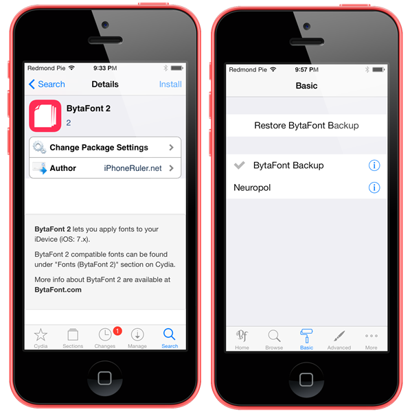 How To Change System Font In Ios 7 Redmond Pie