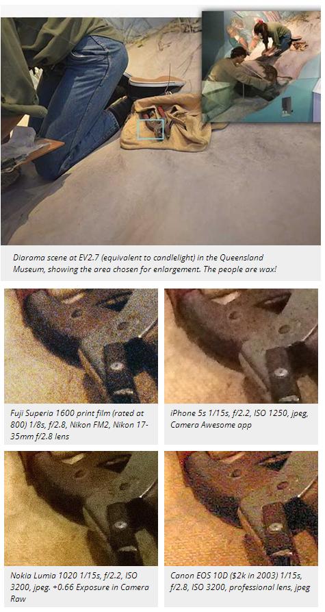Camera comparison Lumia 5s DSLR