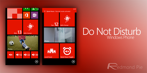 Do not disturb windows phone