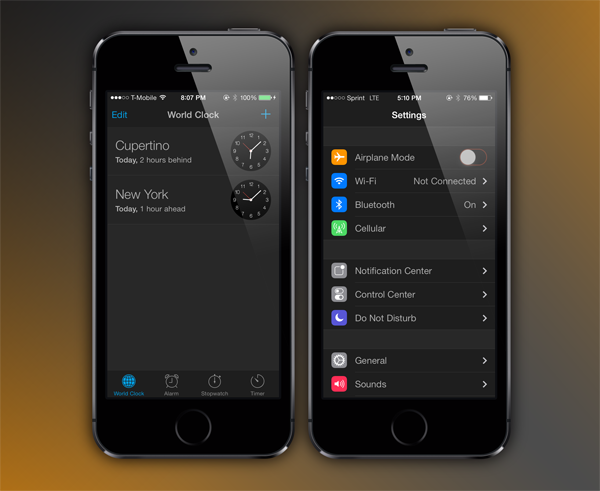 How To Get System-wide Dark Theme (Night Mode) In iOS 7 | Redmond Pie