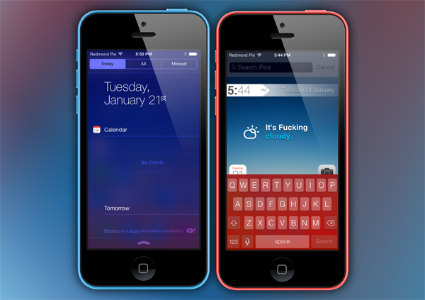 Fancy iOS screens