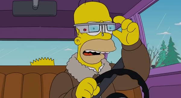 Glass on The Simpsons
