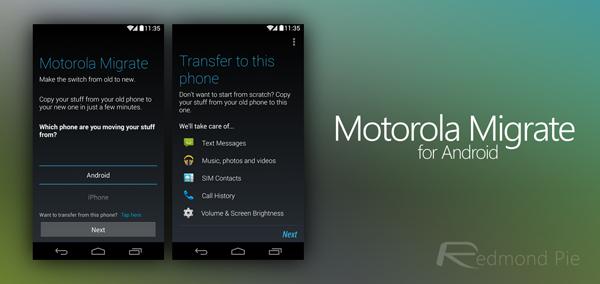 Motorola Migrate header