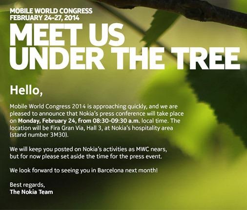 Nokia MWC invite