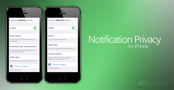 Notification Privacy iPhone