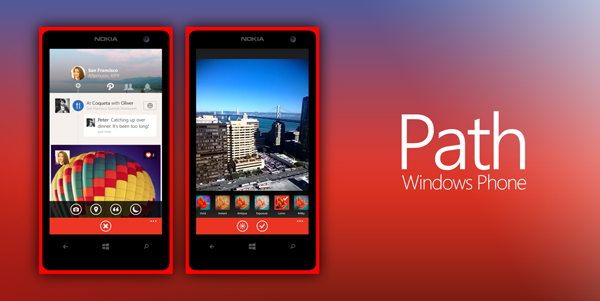 Path windows phone header