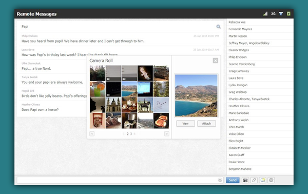 Remote Messages browser 2