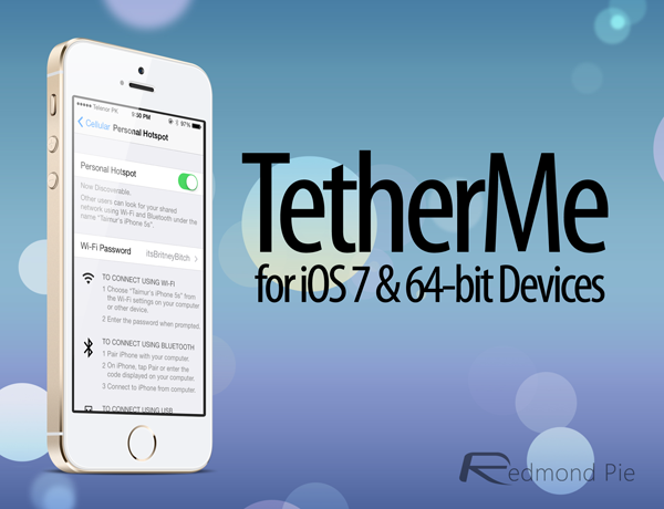 TetherMe For iOS 7: Enable Free Personal Hotspot Tethering