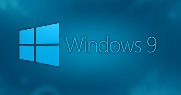 Windows 9 concept logo
