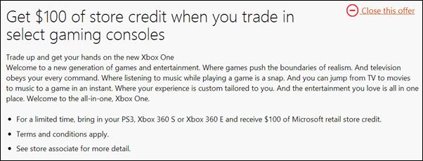 Xbox trade in promo