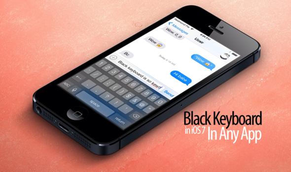 black keyboard iOS 7 bloard