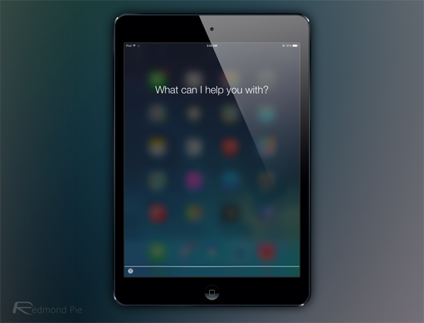 iPad mini Siri iOS 7