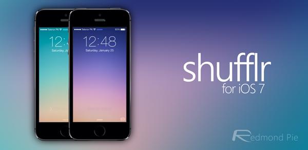 shufflr iOS 7 header