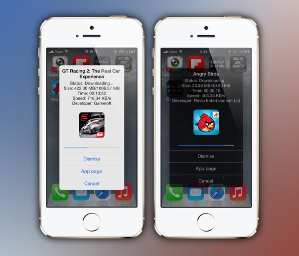AppETA screenshots