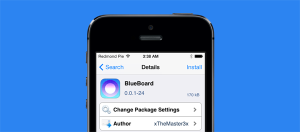 BlueBoard package page