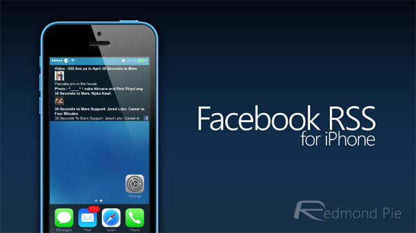 Facebook RSS header