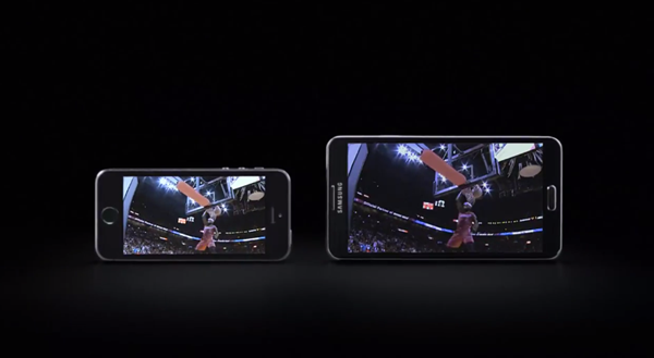 Galaxy Note 3 iPhone 5s ad header