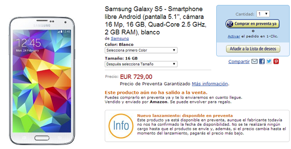 Galaxy S5 amazon price