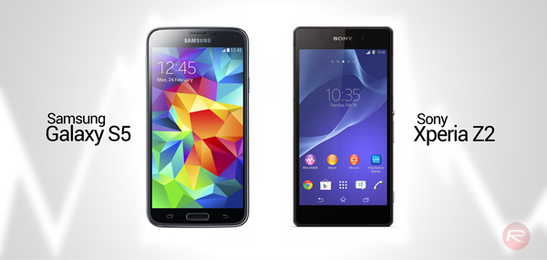 GalaxyS5 vs XperiaZ2 header
