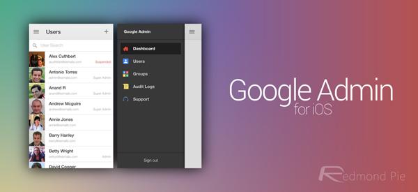 Google Admin iOS header