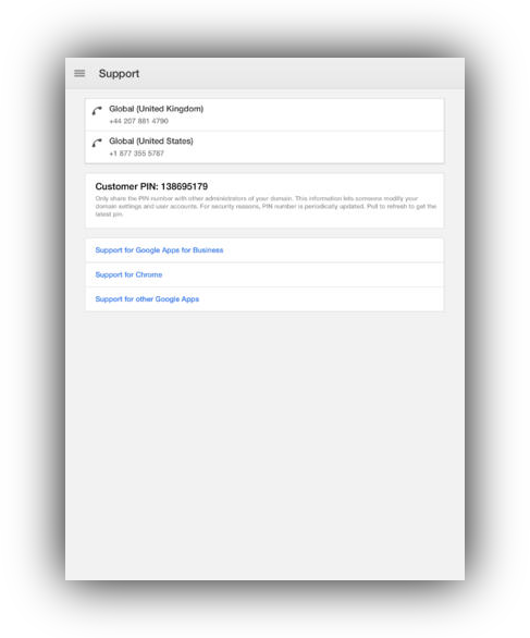 Google Admin iPad screenshot