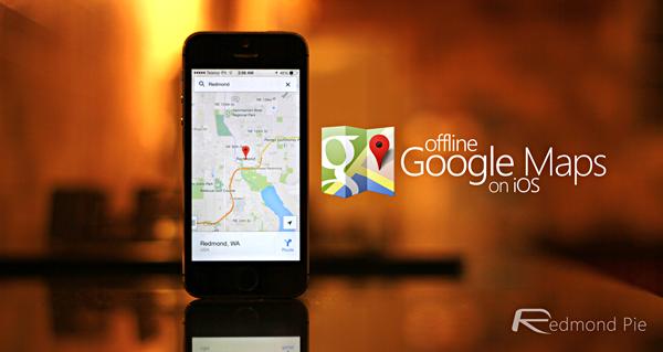 Google Maps offline header
