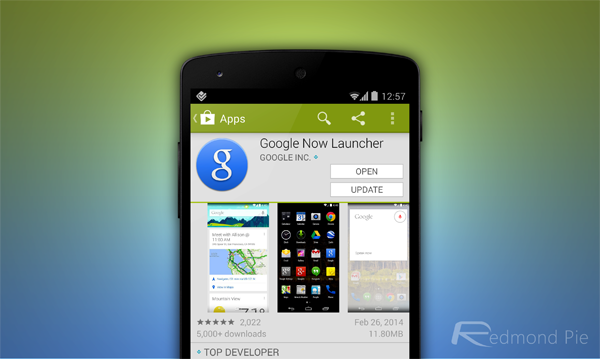 Google Now Launcher Play Store
