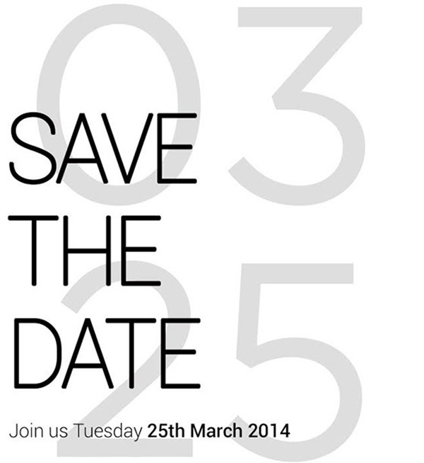 HTC event invite March 25 14