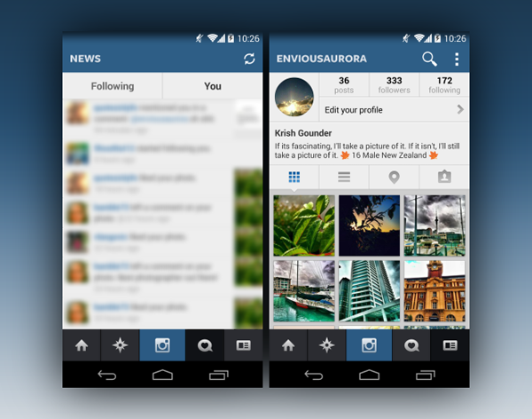 Instagram iOS 7 Android screenshots