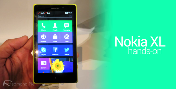 Nokia XL hands on