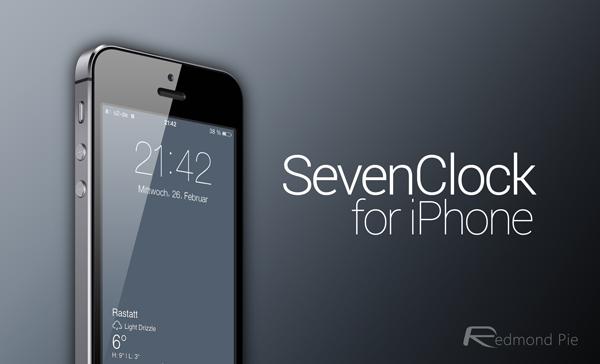 SevenClock for iOS 7 header