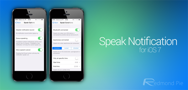 Speak Notification Header
