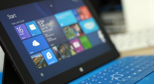 Surface Pro Start screen