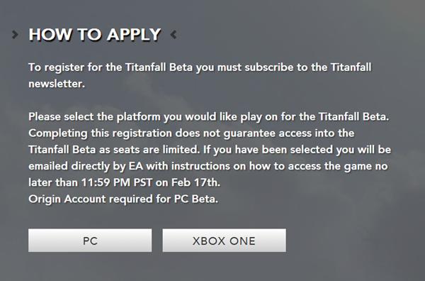 Titanfall beta